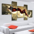 100% Hand-painted Sexy Woman Nude Oil Painting on Canvas Naked Girl Body 5pcs/set No Frame
