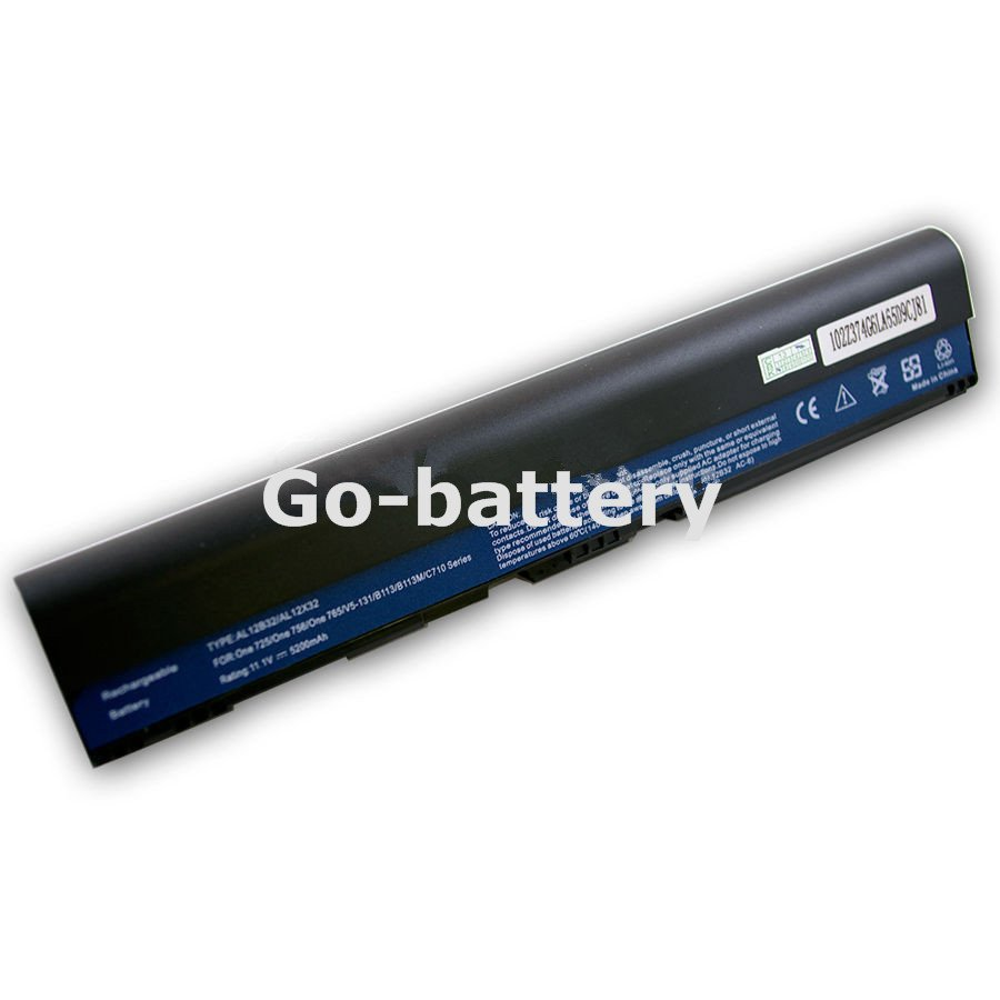 New 6 Cell 5200mAh Laptop Battery for Acer ASPIRE ONE AO725-0802 AO725-0825
