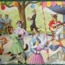ANTHROPORMORPHIC DRESSED CAT POSTCARD-MAINZER HARTUNG-OUTSIDE DANCE 4863 Belgium
