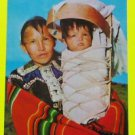 Navajo Mother Child Cradleboard A-Wee T-Saal American Indian VTG Postcard AZ