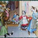 ANTHROPORMORPHIC DRESS CAT POSTCARD-MAINZER HARTUNG-CABINET CRASHES 4851 Belgium