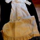 Original Antique Vintage Victorian  Baby Christening Gown Dress Male/Female