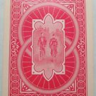Lady & Man Bicycles Filigree Back Victorian Antique VTG Wide Swap Playing Card