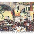 CASTILLA RESTAURANT-INTERIOR DINING RM-ST. LOUIS, MO.-VINTAGE CURTEICH POSTCARD