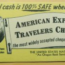 Advertising Blotter American Express Travelers Cheques U.S. National Bank Oregon