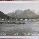 SITKA, ALASKA-TOWN VIEW OFF SHORE-PHOTO SHOP STUDIO 455-RPPC REAL PHOTO POSTCARD