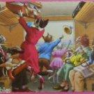 ANTHROPOMORPHIC DRESSED CATS POSTCARD-MAINZER HARTUNG-INSIDE TRAIN 4895 Belgium