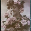 FRENCH SEXY LADY PRE 1920-Hand Tint-ANTIQUE VINTAGE RPPC REAL PHOTO POSTCARD 7