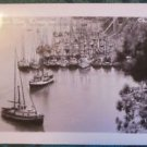 DEPOT BAY HARBOR VIEW OREGON-LOTS BOATS RPPC PHOTO POSTCARD-CHRISTIAN 147 EKC