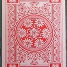 Daisy Flowers Filigree Back - Victorian Antique VTG Wide Swap Playing Card