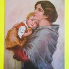 Mother & Child-A/S Willi Scheuermann-Antique Vintage A. R. & C. Berlin Postcard
