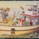 ANTHROPOMORPHIC DRESSED CATS POSTCARD-MAINZER HARTUNG-PARTY BOAT MUSICIANS 4911