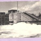RELEASE WATER SABIN LOCK-SAULT STE MARIE, MICHIGAN-VTG RPPC PHOTO POSTCARD-COOK