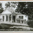 ENTRANCE LITTLE WHITE HOUSE-WARM SPRINGS, GA - PRE 1950 EKC RPP PHOTO POSTCARD