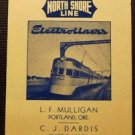 RAILROADS North Shore Line-Mulligan-Portland,Ore.-Vintage RR Swap Play Card