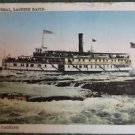 LACHINE RAPID with STEAMER SHIP, MONTREAL, CANADA - VINTAGE PRE-1930 POSTCARD