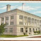 US Post Office/Court House Cheyenne, Wyoming-Vintage Antique Building Postcard