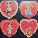 12 A-MERI-CARD CHILDREN DIE CUT VALENTINES DAY GREETINGS-BASEBALL PLAYER, HE-MAN