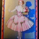 """LA BELLE"" LADY BALLERINA ENGLISH UK NARROW NAMED DECO VINTAGE SWAP PLAYING CARD"