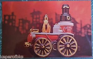 Ezra Brooks Whiskey Fire Engine Decanter Vintage 1971 Advertising Postcard