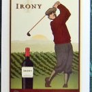 IRONY WINES-GOLFER GAZES AFTER SWING-MODERN WIDE ADVERTISING SWAP PLAYING CARD