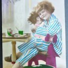 Young Girl Holds Doll Toy-Antique 1927 Art Deco FRENCH Real Photo POSTCARD