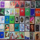 50 VINTAGE SWAP PLAYING CARDS-RR Trains-Flowers-Rooster-USNNs-Pin Ups-Ads