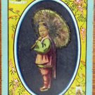 CHEEFOO-MYSTERIOUS ASIAN BOY UMBRELLA-1905 VINTAGE WIDE NAMED SWAP PLAYING CARD
