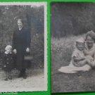 MOTHER & DAUGHTER-LOT of 2 ANTIQUE VINTAGE GERMAN REAL PHOTO POSTCARD  1938-1940
