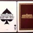 Union Tank Car CO. Ace of Spades - Original Vintage 1940's RR Swap Playing Card
