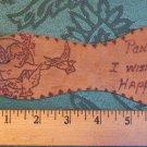 """ANTIQUE DIECUT PON SOLE-LEATHER POSTCARD-CHERUB BIRD-1907 PITTSBURG 9"""" Valentine"""