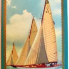 """8 METER YACHTS"" ARTIST SIGNED - 1 VINTAGE USNN NARROW NAMED SWAP PLAYING CARD"