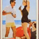 COCA COLA-BE REALLY REFRESHED-BEACH PARTY-1956 VINTAGE AD SWAP PLAYING CARD