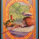 """Frog & Hedgehog"" Dragonfly by K. Hawkes Modern WIDE NAMED Swap Playing Card"