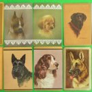 14 Different VINTAGE 1940-1960 Artist Signed Dog SWAP PLAYING CARDS 6 Pair
