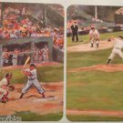 Batters Up Catcher Baseball Game in Oils-1 PR Modern 1980's SWAP PLAYING CARDS