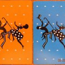 CAKE WALK AFRICAN AMERICAN BLACK AMERICANA 20s VINTAGE SWAP PLAYING CARD PAIR