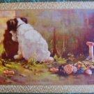 """REPENTANT SINNER"" NAUGHTY TERRIER DOG RAG DOLL-UK NN NAMED SWAP PLAYING CARD"
