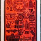 MOBIL OIL GAS STATION POP HIPPIE ART-VINTAGE WIDE ADVERTISING SWAP PLAYING CARD