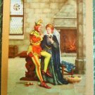 """JESTER and MAID"" - ANTIQUE VINTAGE UKNN ENGLISH NARROW NAMED SWAP PLAYING CARD"