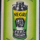 NEGRI SHOE POLISH AD-BELGIUM AFRICAN BLACK AMERICANA VINTAGE SWAP PLAYING CARD