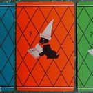 """DUNCE"" TERRIER DOG in DUNCE HAT - 3 COLORS VINTAGE DECO 1930 SWAP PLAYING CARDS"