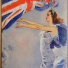 """""""LADY LIBERTY"""" VICTORY WWII  H. C. CHRISTY UK VINTAGE SWAP PLAYING CARD SINGLE"""