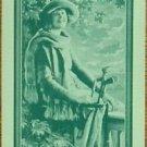 """GOLF BELLE"" PRETTY LADY GOLFER-GREEN-VINTAGE NN NARROW NAMED SWAP PLAYING CARD"