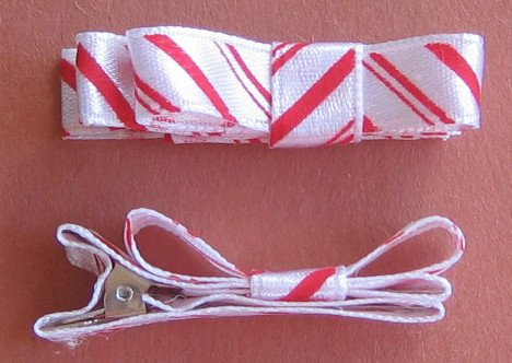 Set of 2 Peppermint Hair Clips