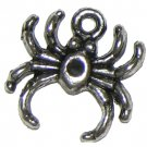6 Antique Silver Spider Charms - Spiders