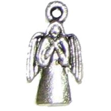 6 Antique Silver Angel Charms - Angels