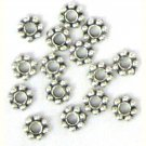 100 6mm Antique Silver Daisy Spacer Beads