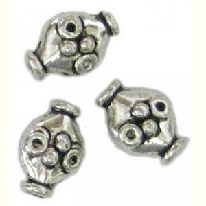 10 Bright Silver Pot Telescope Beads