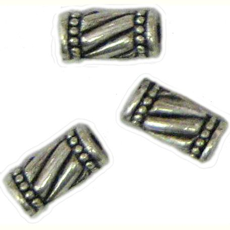 10 Antique Silver Barber Shop Pole Beads